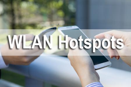 WLAN Hotspots - schnelles Internet ohne Kabel