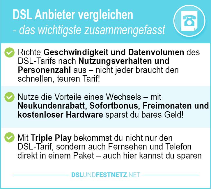 Bester DSL Anbieter Vergleich