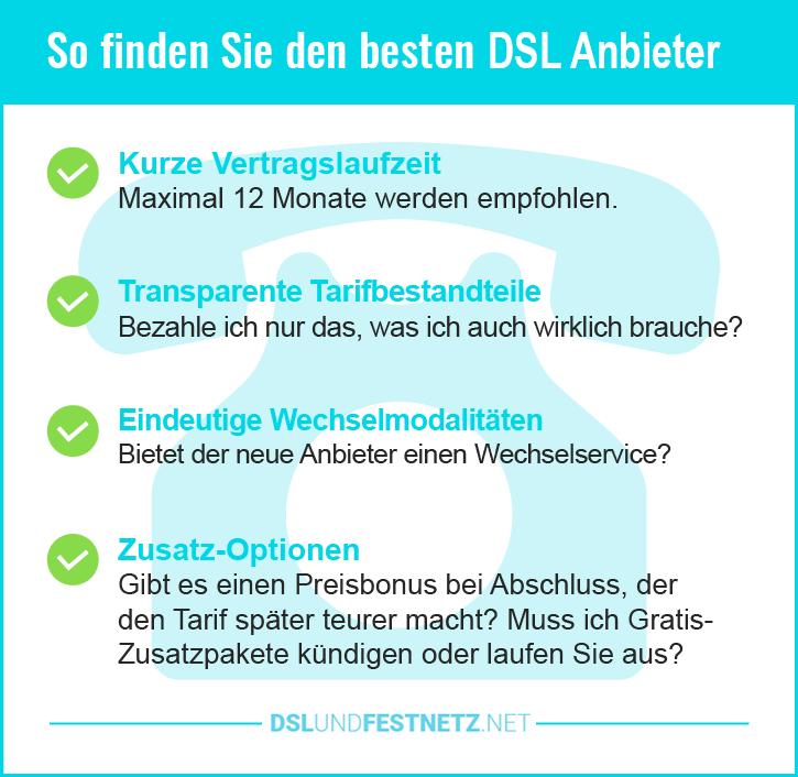 Billige DSL Festnetz Anbieter