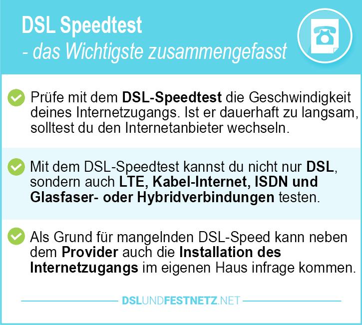 DSL-Anbieter Speedtest