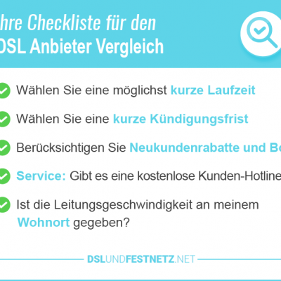 DSL Anbieter Vergleich Stiftung Warentest 2020 – alle Top Anbieter im Test