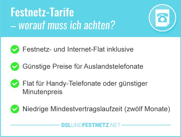 Festnetzanbieter Deutschland Tarife