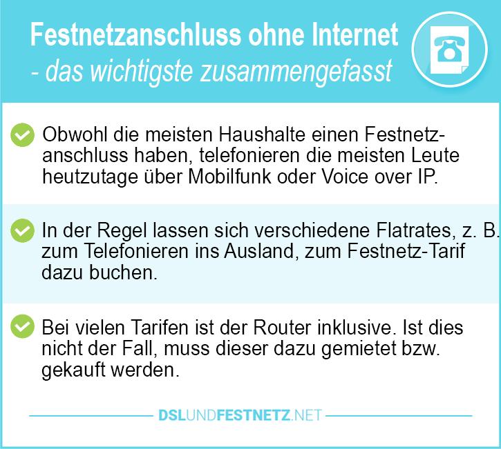 Festnetzanschluss ohne Internet Preisvergleich