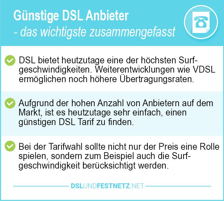 Günstige DSL Anbieter